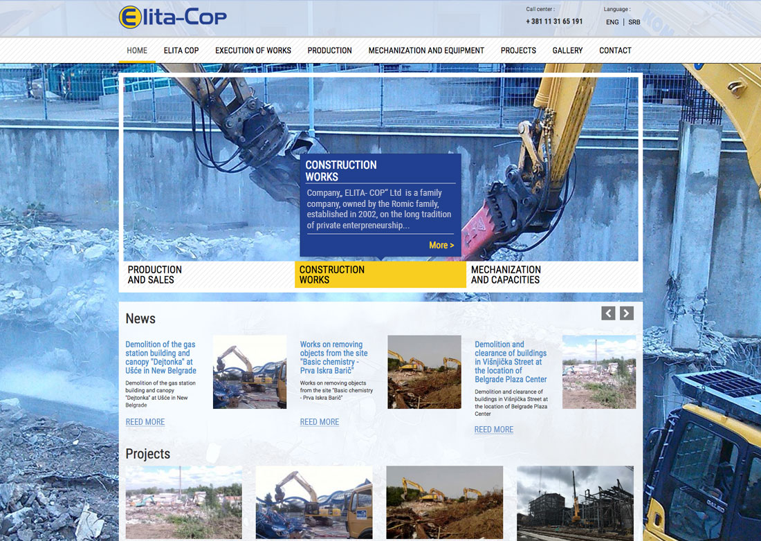 Construction Company Webdesign